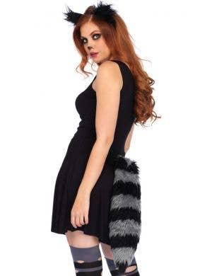 Raccoon Headband and Tail Costume Set