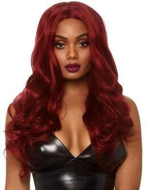 Daring Dark Red Women's Long Wavy Costume Wig