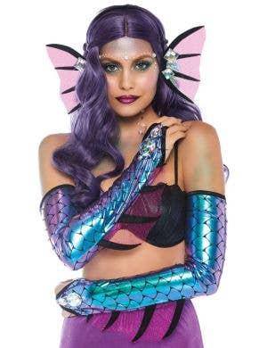 Dark Mermaid Gloves And Headband Costume Accessory Kit