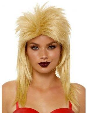 Rock Star Blonde Unisex Adult's Mullet Costume Wig