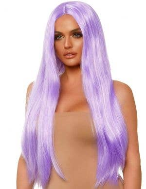 Long 83cm Lavender Purple Women's Costume Wig