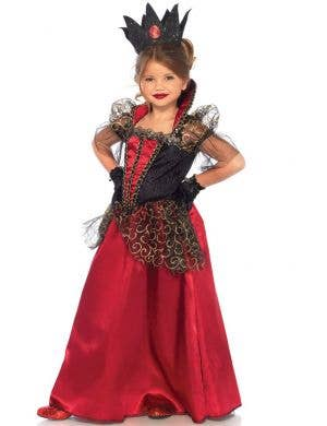 Deluxe Red Queen Girl's Book Week Costume