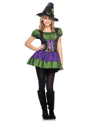 Teen Girls Halloween Witch Costume Main Image
