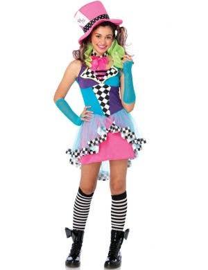 Mayhem Hatter Teen Girl's Fancy Dress Costume
