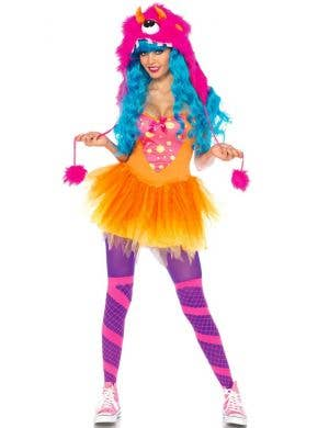 Shaggy Shelly Women's Sexy Orange Monster Costume
