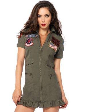 Top Gun Flight Dress Women's Costume
