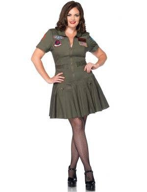 Top Gun Flight Dress Women's Plus Size Costume
