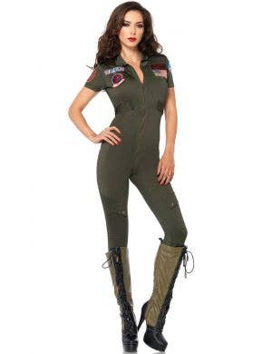 Top Gun Flight Suit Women's Pilot Costume