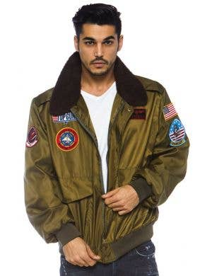 Top Gun Licensed Men's Aviator Bomber Costume Jacket