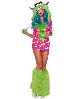 Pink Polka Dot Monster Sexy Women's Costume