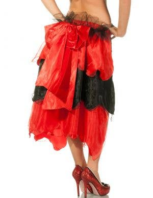 Burlesque Layered Bustle in Black and Red