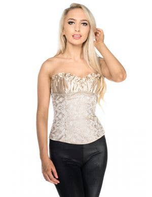 Chic Gold Brocade Sexy Women's Corset