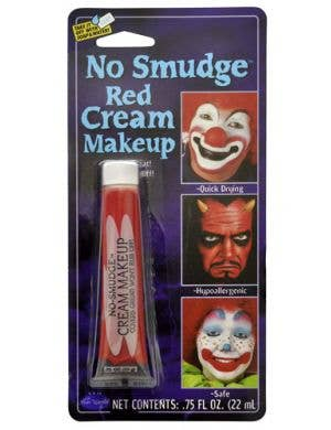 No Smudge Cream Makeup - Red