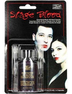 Gruesome Stage Blood With Capsules By Mehron - 14ml