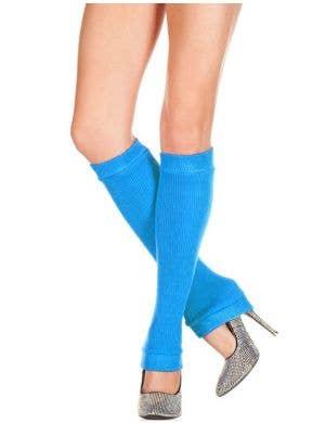 Knee High 80's Blue Leg Warmers