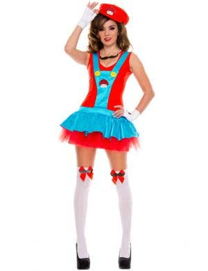 Playful Plumber Women's Miss Mario Costume