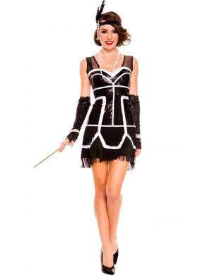 1920's Sexy Gatsby Flapper Costume Main Image