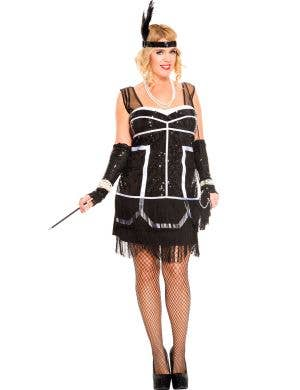 Plus Size 1920's Sexy Gatsby Flapper Costume Main Image