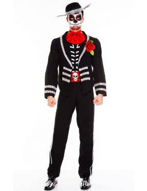 Men's Day of the Dead Fancy Dress Costume Front View
