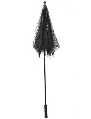 Sheer Black Lace Victorian Parasol Costume Accessory
