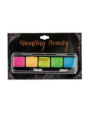 Black, Red And Glitter Eye Shadow Professional Quality Halloween Face Makeup Cosmetics Palette Costume Accessory Main Image