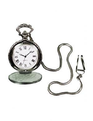 Antique Silver Pocket Watch Costume Accessory
