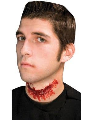 Prosthetic Slit Throat Halloween Special FX Accessory