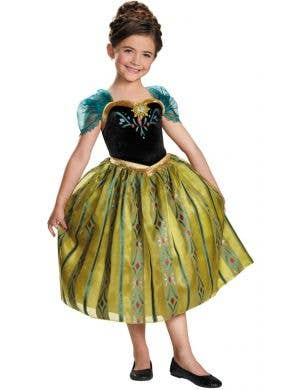 Coronation Anna Girls Deluxe Frozen Disney Costume