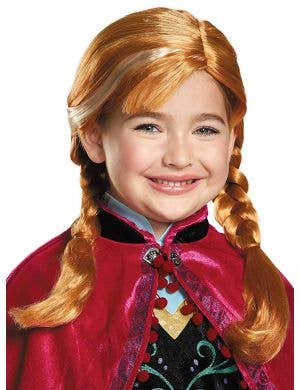 Anna Officially Licensed Girl's Frozen Costume Wig