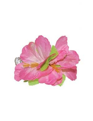 Hawaiian Hibiscus Large Pink Flower Hair Clip Costume Accessory