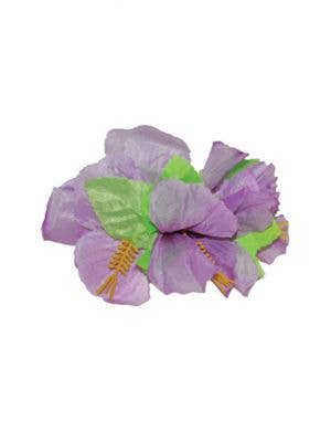 Hawaiian Hibiscus Large Purple Flower Hair Clip Costume Accessory