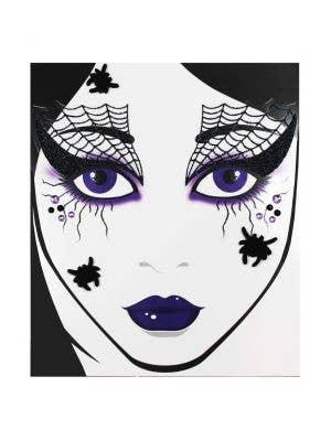 Witches Spiderweb Face Tattoo Costume Accessory