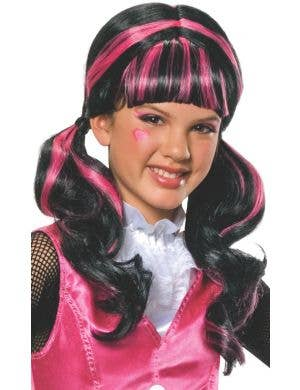 Draculaura Monster High Girl's Costume Wig