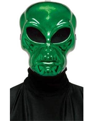 Metallic Green Alien Hockey Style Halloween Face Mask