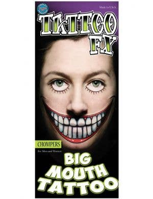 Chompers Big Mouth Temporary Tattoo Special FX