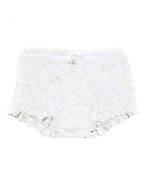 Ruffled Junior Teen Girl's White Dance Shorts