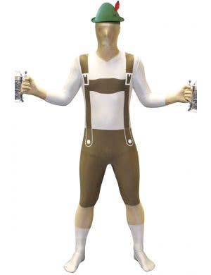 Men's German Lederhosen Printed Morphsuit Costume 1