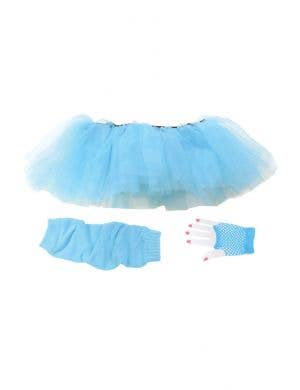 1980's Women's Blue Tutu Costume Accessory Set