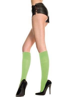 Opaque Zombie Green Knee High Stockings