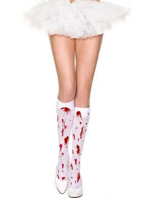 Knee High Blood Splattered Halloween Stockings