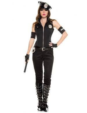 Bombshell Cop Sexy Women's Police Officer Costume Front View
