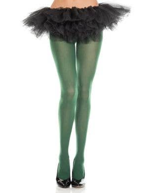 Dark Green Full Length Women's Costume Leggings