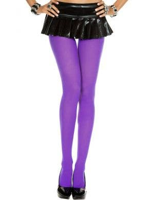 Purple Full Length Women's Costume Leggings
