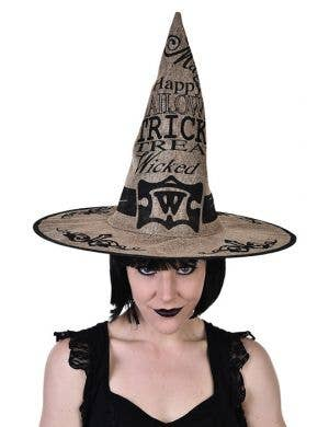 Retro Hessian Wicked Witch Halloween Costume Hat