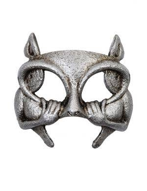 Half Face Gargoyle Platinum Halloween And Masquerade Mask