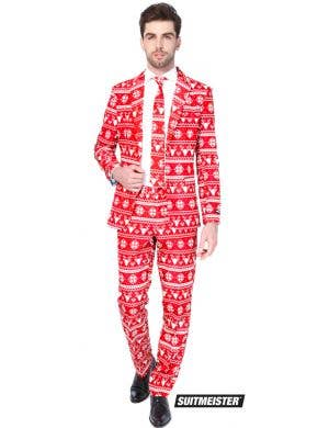 Suitmeister Men's Christmas Red Nordic Suit