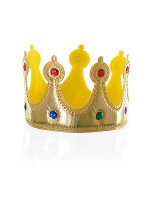 Plush Gold Royal Crown Costume Accessory