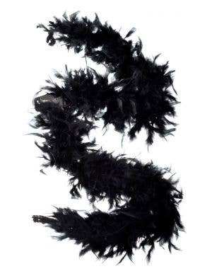 1920's Black Feather Boa Costume Accessory