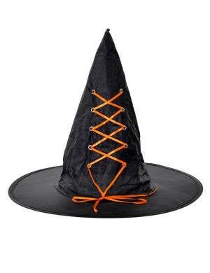 Witching Hour Black and Orange Witch Hat Costume Accessory