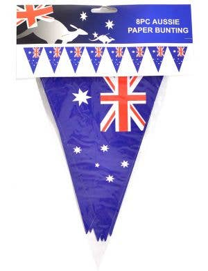Australia Day Bunting Decoration with 8 Aussie Flags